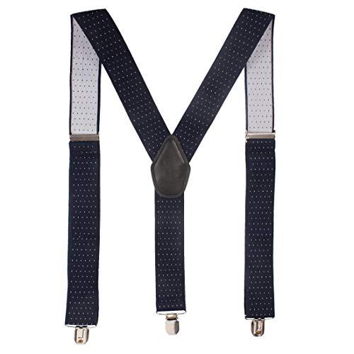 Peluche Steaming Polka Dot Blue Colour Suspenders (3cm Strap Width Elastic)
