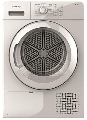 Privileg PWCT CM08 8B DE Kondensationstrockner/ 8 kg/Easycleaning Filter/Knitterschutz Option/Startzeitvorwahl/Feinwäsche/Leicht zu pflegen/Mischwäsche-Programm