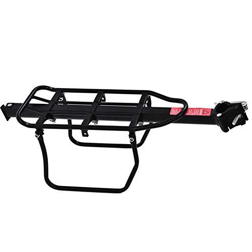 Fahrrad-Gepäckträger aus Aluminiumlegierung, langlebig, für Fahrrad mit Reflektor und Schutzblech, Schwarz