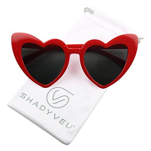 ShadyVEU – anteojos de sol con forma de corazón de gran tamaño, estilo clásico, de punta alta, lindos…
