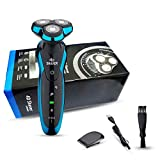 NOYMI Men's Electric Shavers Razor for 4D Rechargeable IPX7 Waterproof Rotary Cordless Beard