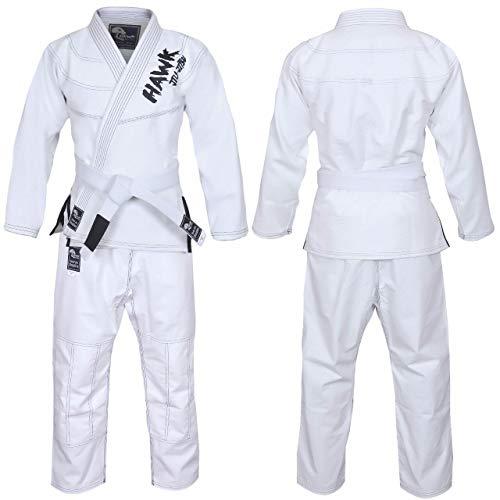 Hawk Braziliaanse Jiu Jitsu pak BJJ Gi Kimonos BJJ Uniform Voorgekrompen Parel Weave Stof Nieuw, Met GRATIS WIT Riem