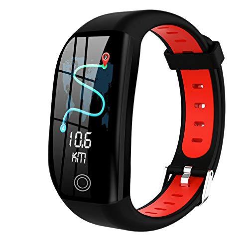wEnBU DT35 F21 Reloj inalámbrico Inteligente Pulsera Inteligente Rastreador de Ejercicios a Prueba de Agua Monitor de Ritmo cardíaco Pulsera Deportiva Reloj Inteligente Rojo