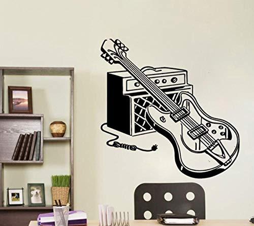 Muurstickers Kleurrijke elektrische gitaar huisdecoratie voor baby kinderkamer waterdichte woonkamer muur Art Decal 43X43 cm