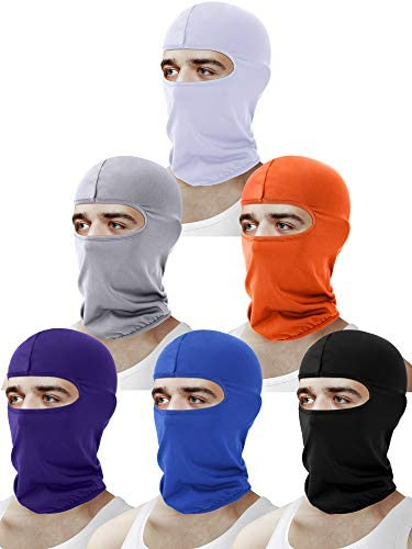 6 Pieces Balaclava Face Cover Sun Protection Cover Breathable Long Neck Cover for Outdoor Activities product image