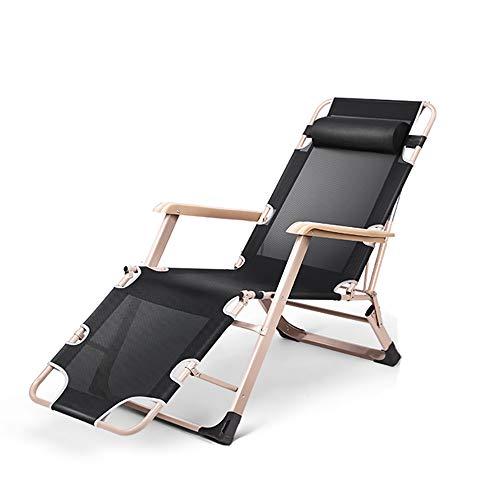Qi Tai – klapstoel – herfst en winter klapstoel Siesta stoel aan de achterkant van het bed Lazy Beach Home draagbaar multifunctioneel – afmetingen: inklapbaar (66 x 98 x 15 cm) + opklapbaar