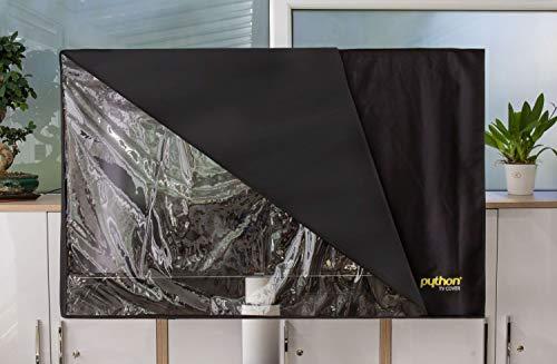 """Python TV-Cover - 60\"""" bis 65\"""" Zoll - wetterfeste Schutzhülle für TV / Fernseher und Monitor   Indoor/Outdoor   147x92 cm - schwarz"""