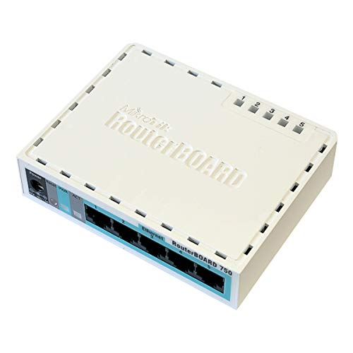 MikroTik RouterBOARD RB750r2 hEX lite, 850 MHz, 64 MB RAM