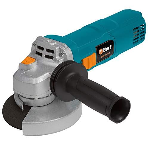 Bort Amoladora angular BWS-1600-R con regulación de velocidad, diámetro de 125 mm, 1600 W, 3000-11000 rpm, incluye juego de escobillas de carbón adicional.