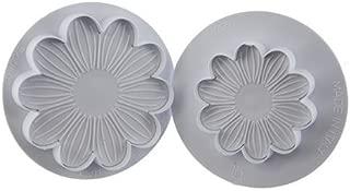 Martellato 40-W206S 2 Piece Dahlia Plunger Cutter Set, Plastic, White