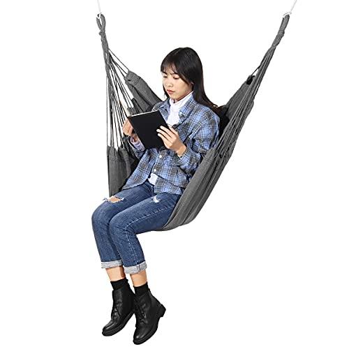 ZBF Silla de Hamaca Colgante para Exteriores al Aire Libre Cama de Swing Camping Garden Cargar 210kg con o sin Almohada (Color : with Pillow)