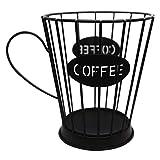 Uniqal Soporte para cápsulas de café, cesta de almacenamiento de cocina, soporte para cápsulas de café (pequeño), color...