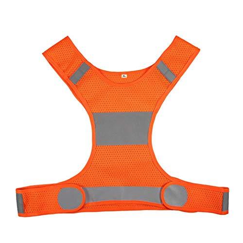 Reflecterend vest waarschuwingsvest reflecterende fluorescerend geel oranje veiligheidsvest veiligheidsuitrusting, nachtloop- schudden en fietsen. Large oranje