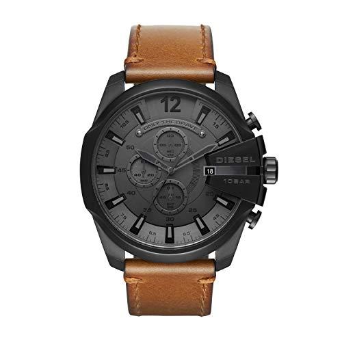 Diesel Herren Chronograph Quarz Uhr mit Leder Armband DZ4463