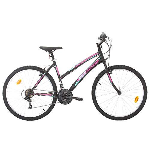 Bikesport 26 Zoll Adventure Mädchenfahrrad Damen Mountainbike, Shimano 18 Gang