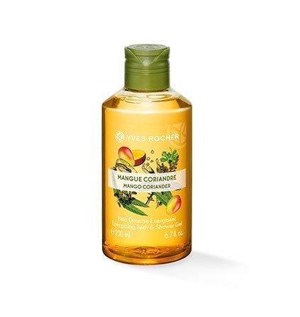 Yves Rocher LES PLAISIRS NATURE Duschbad Mango-Koriander, Aroma-Schaumbad & pflegendes Duschgel, 1 x Flacon 200 ml