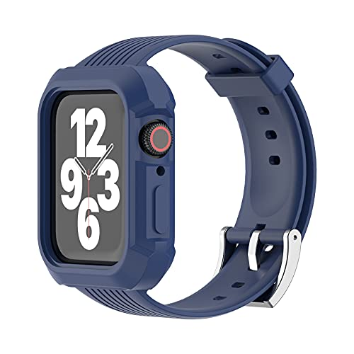 Mersidany TPU Banda Correa para Apple Watch Serie 6/5/4/3/2/1 Parachoques Deporte iwatch 38mm 40mm 42mm 44mm (38/40mm,Blue)