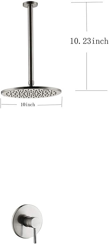 Xiaofengliustore Dusche mischer Duscharmaturen Gebürsteter Nickel Deckenmontage Keramisches Ventil Bath Shower Mixer Taps Messing Einzigen Handgriff Zwei Lcher