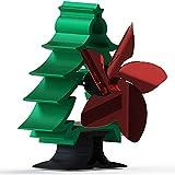 EastMetal Ventiladores para Chimeneas 5 Aspas, Ventilador de Estufa de Calor, Stove Fans Árbol de Navidad, No Requiere Batería o Electricidad, para Estufa de Leña/Chimenea/Gas/Pellets/Madera/Troncos