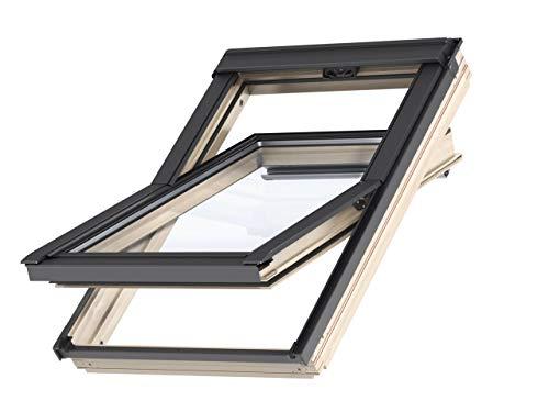 Velux - Ventana de techo de madera (tecnología térmica, 66 x 118) con marco