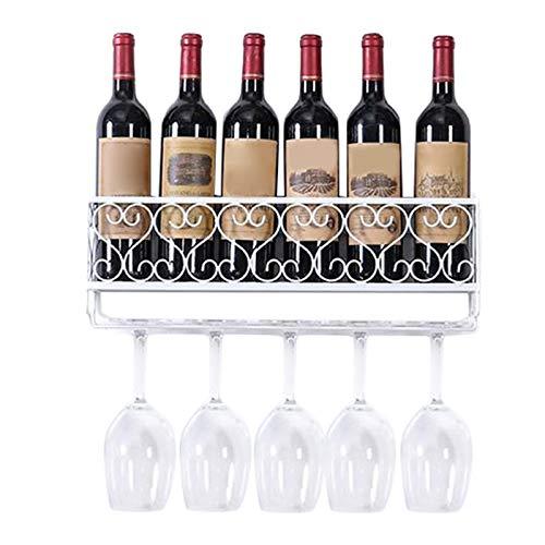 Gelentea Moderno estante de vino montado en la pared de hierro para botellas de vino y champán, soporte para botellas de champán o para fiestas en