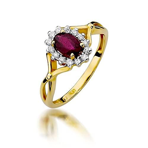 Lumari Gold 14 k (585) oro amarillo Ruby