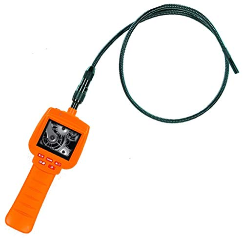 """Vividia 3.9mm Photo & Video Recordable Flexible Inspection Camera Borescope with 2.4"""" LCD Monitor and 2m Cable Length"""