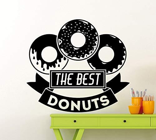 Los Mejores Donuts Etiqueta de La Pared Cita Panadería Panadería Cocina Cafe Decor Calcomanía de Vinilo Hogar Habitación Decoración de Interiores Wallpaper 63x57 cm