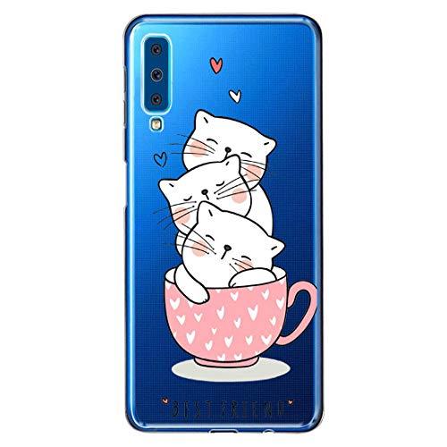 Case Kompatibel mit Samsung Galaxy A9 2018 Hülle Transparent Kristall HandyHülle Ultraslim Weich Silikon Tier case Stoßfest Anti-Kratzen Schutzhülle Bumper Cover für Samsung Galaxy A9 2018 (4)