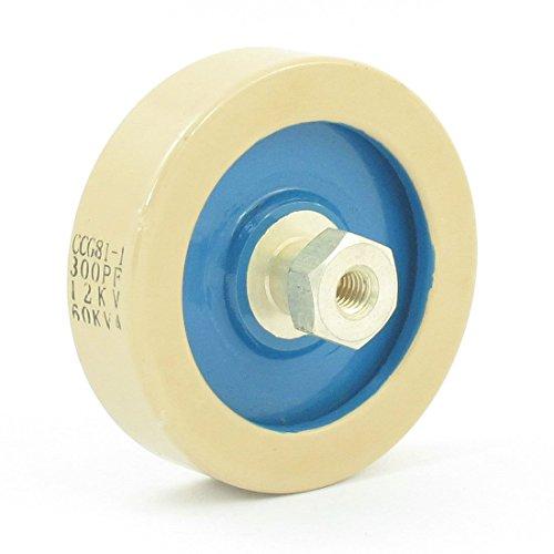 300PF 12KV 60KVA Placa de cerámica de alta tensión de la forma de condensadores CCG81-1