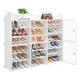 MAGINELS Portable Shoe Rack, 36-Pair DIY Shoe...