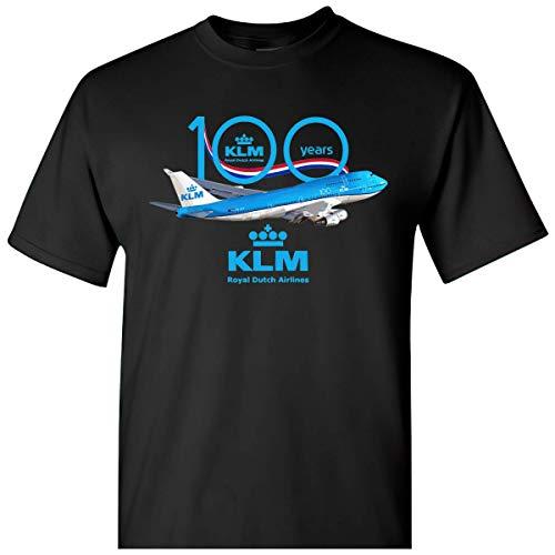 Mens Womens Tshirt 100 Years Boeings 747 KLM Royal Dutch Airlines Shirts for Men Women Mon Neck Perfect