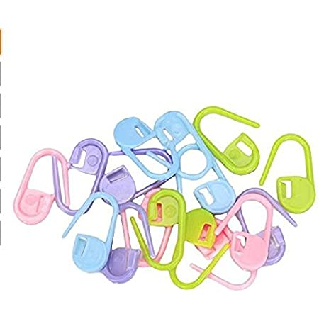 TaoNaisi Lot de 100anneaux marqueurs en plastique de tricot Idéal pour marquer le rang dans votre tricot Assortiment de couleurs