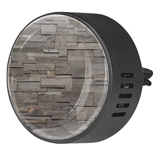 CHINFY 2 unids piedra gris oscuro textura ladrillo aromaterapia difusor coche difusor ventilación clip 40mm acero inoxidable coche difusor Locket ambientador