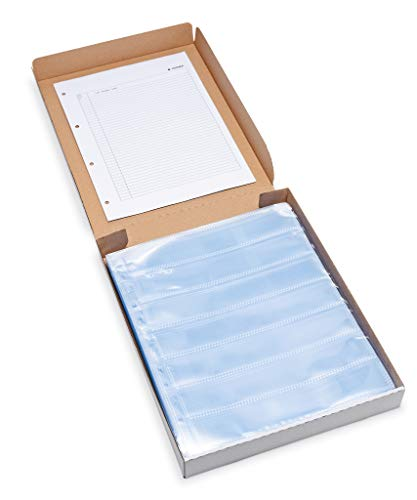 HERMA 7767 Fotophan Negativhüllen DIN A4 transparent (7 x 5 Streifen, 100 Hüllen, Folie) für Kleinbild-Negative im Format 35 mm mit Sicherheitslasche & Eurolochung