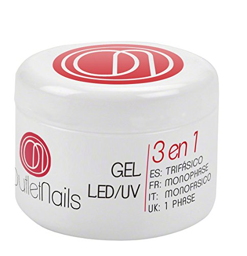 Gel UV 3 en 1 UV/Led Monophase 30ml / 3en1 gel ongles = Base + Construction + Finition / monophasés Mono Phase / Gel Monophase (3 en 1)