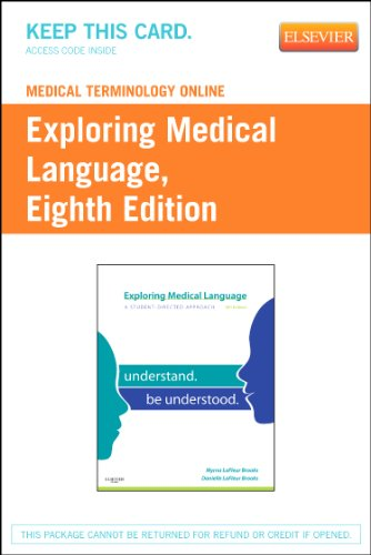 Price comparison product image Medical Terminology Online for Exploring Medical Language (Access Code)