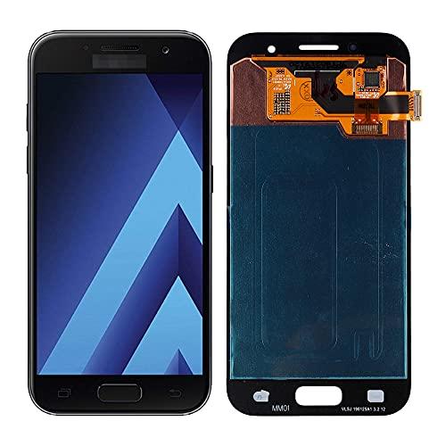 SwarKing AMOLED - Display LCD compatibile con Samsung Galaxy A3 2017 SM-A320 (nero, senza cornice), parti di ricambio con attrezzi