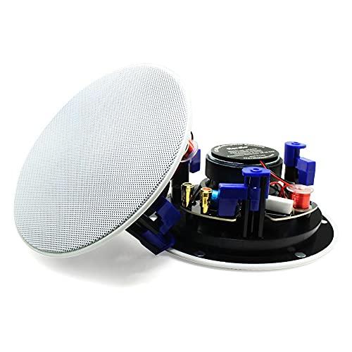 Herdio 4 Zoll Deckenlautsprecher, 160 Watt 2-Wege Bluetooth Einbaulautsprecher, Bündige Montage Sound, für Innen und Außenbereich, Schlafzimmer, Badezimmer, Heimkino, Veranden (2 Lautsprecher)