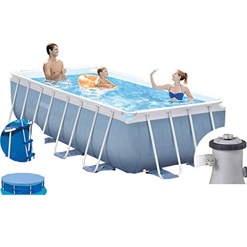 Piscinas de verano al aire libre de Soporte gran piscina infantil Casa Piscina Centro cubierta plegable espesado Jardín Piscina for niños (Color: Gris, Tamaño: 16 pies) ZHNGHENG (Color: Gris, Tamaño:
