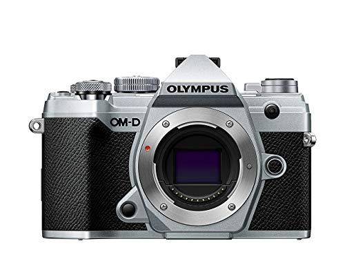 Olympus OM-D E-M5 Mark III Micro Four Thirds Systemkamera Gehäuse, 20 MP Sensor, 5-Achsen Bildstabilisator, leistungsstarker Autofokus, elektronischer OLED Sucher, 4K-Video, WLAN, Bluetooth, silber