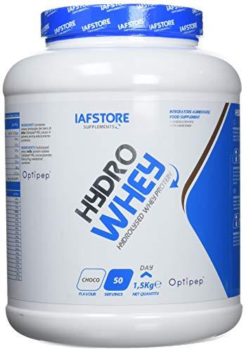 Iafstore Supplements Hydro Whey integratore alimentare con proteine isolate idrolizzate del siero di latte Optipep 90 DH4 (Cioccolato) 1500 g