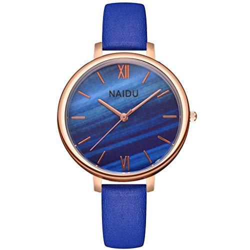 COOKI Womens Quartz Watch Analog Female Temperament Wild Trendy Belt Round Dial Watches Lady Watches Wrist Watch for Women