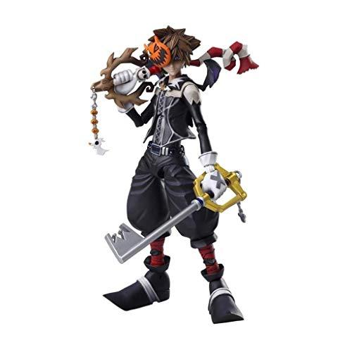 Siyushop Halloween-Stadt Sora Play Arts Kai Action-Figur - Ausgestattet Mit Waffen, Halloween-Masken Und Austauschbaren Händen - Hohe 16CM