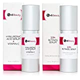 Retinol 2.5% Face Serum and Hyaluronic Acid Vitamin C Serum Gift Set | Face Rejuvenation Treatment Kit for Fine Lines, Wrinkles and Age Spots