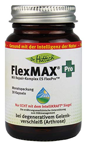 FlexMAX Pro – Hyaluron-Gelenk-Kapseln – Zur ernährungsmedizinischen Unterstützung zum Diätmanagement bei degenerativem Gelenkverschleiß – Von Dr. Hittich (Monatspackung)