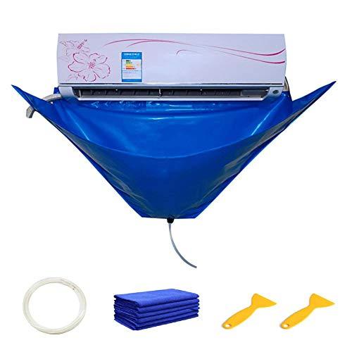 N/I Nettoyage de climatiseur Protection Anti-poussière, Couvercle de Nettoyage de climatisation, Climatiseurs muraux Tuyaux d'eau Housse de Protection Domestique Sac de Protection