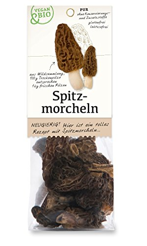 Spitz-Morcheln getrocknet - bio und vegan - 15 g