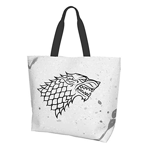 Game Thrones - Bolsa de hombro para TV con múltiples usos, de lona reutilizable de gran capacidad, bolsa de playa