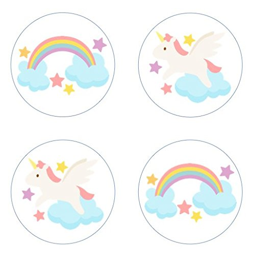 Rainbows and Unicorns Edible Cupcake Toppers Decoration